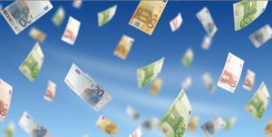 image d'argent, euros