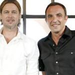 Brad Pitt avec Nikos Aliagas