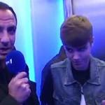 Justin Bieber avec Nikos Aliagas