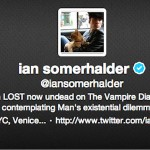 Twitter de Ian Somerhalder de The Vampire Diaries / All Rights Reserved