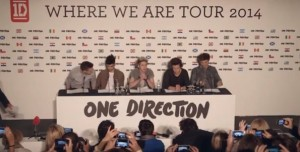 One Direction pour le Where We Are Tour 2014