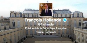 Le compte Twitter de François Hollande