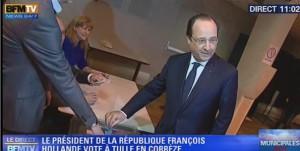 François Hollande vote pour les Municipales 2014