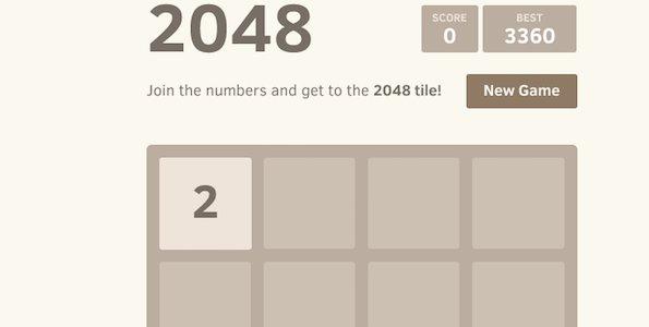 Le jeu 2048
