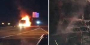 Miley Cyrus : son bus de tournée prend feu