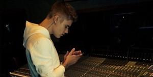 Justin Bieber en studio