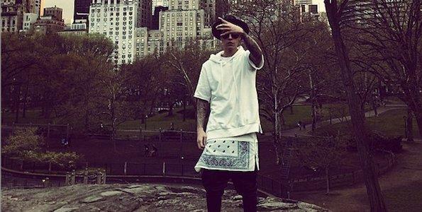 Justin Bieber au milieu de Central Park
