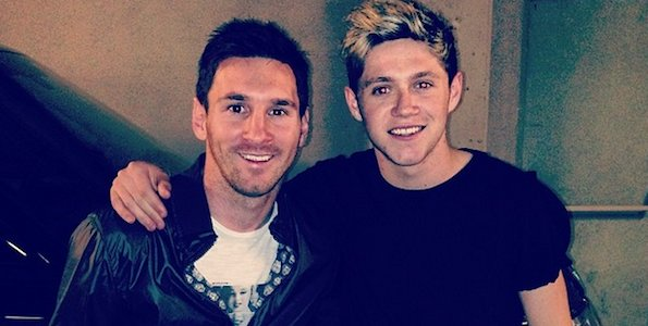 Niall Horan avec Lionel Messi