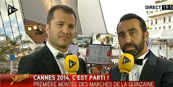 Itélé interrompue au Festival de Cannes