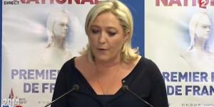 Marine Le Pen dimanche soir pour les Européennes 2014