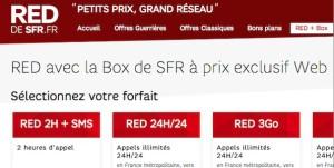La nouvelle offre SFR Red + Box