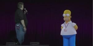Les Simpson en hologramme