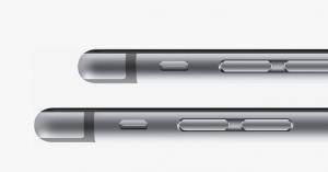 Photos de côté d'un iPhone 6 et iPhone 6 Plus