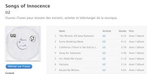 Nouvel album de U2 : Songs of Innocence