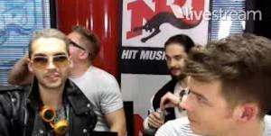 Le groupe Tokio Hotel à Paris