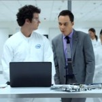 Sheldon de The Big Bang Theory dans la pub Intel