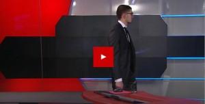 Un homme armé à la télévision néerlandaise