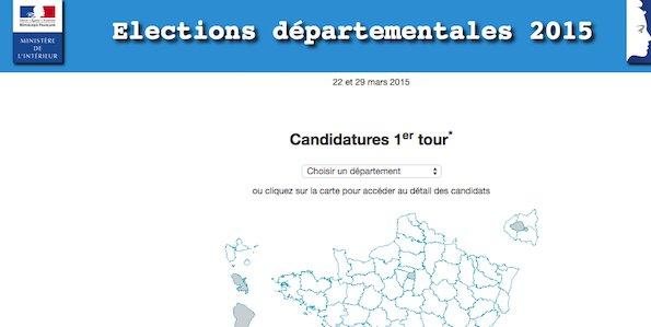 Les résultats des départementales 2015