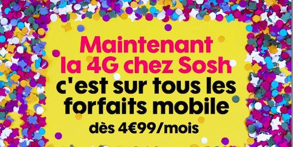 Sosh généralise la 4G