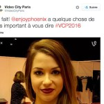 VIDEO : EnjoyPhoenix annonce VIDEO CITY PARIS 2016