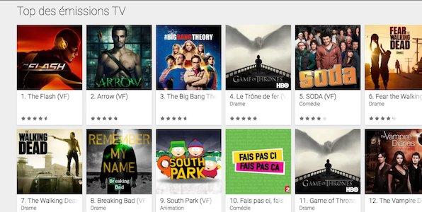 Google Play se lance dans les séries