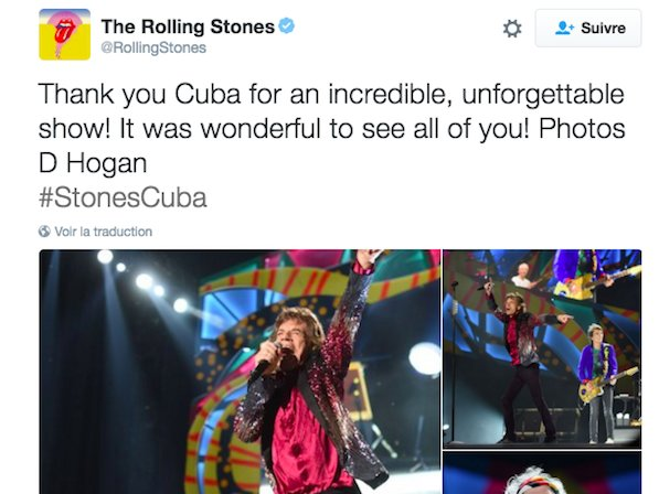 The Rolling Stones sur Twitter