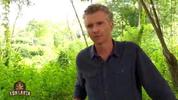 Denis Brogniart mange un scorpion dans Koh Lanta 2016