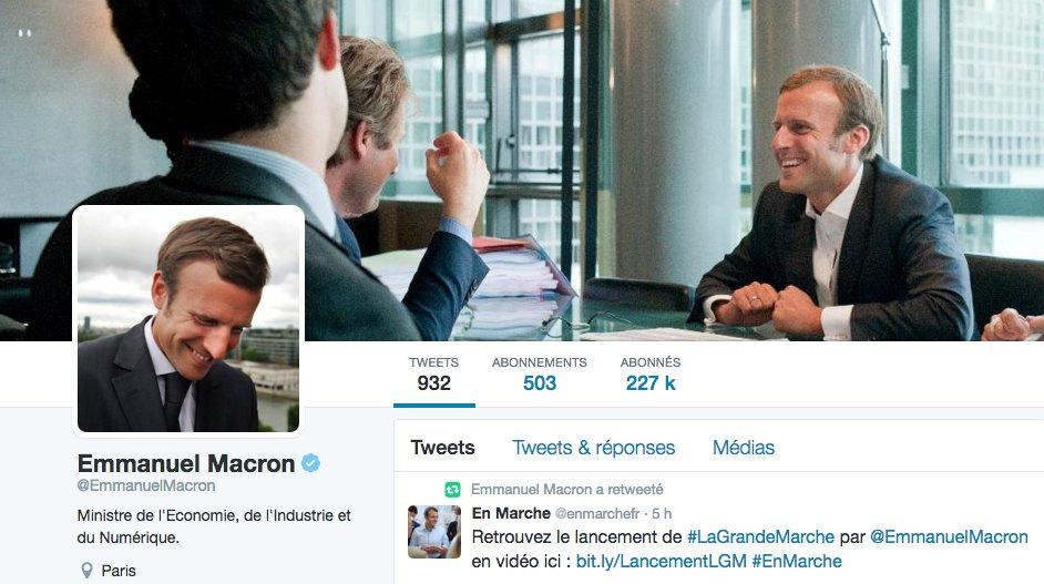 Emmanuel Macron sur les réseaux sociaux