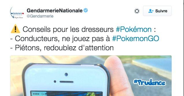 Mise en garde pour Pokemon Go