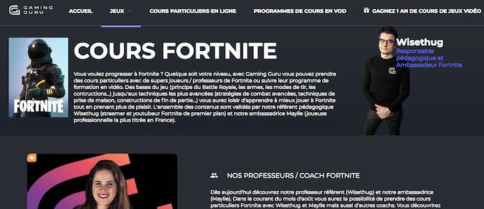 Fortnite : offrez-vous des cours